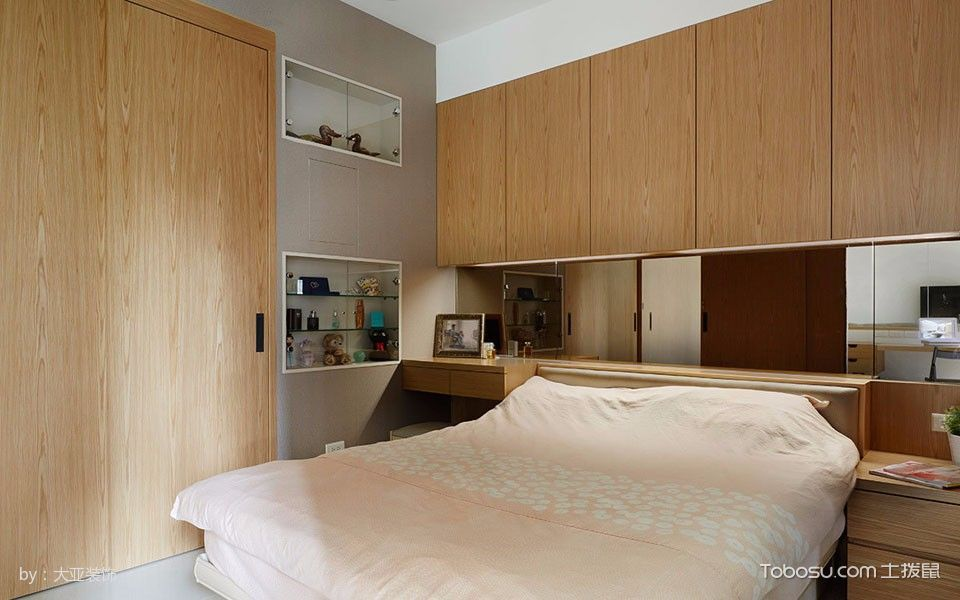 卧室黄色衣柜现代风格装饰效果图
