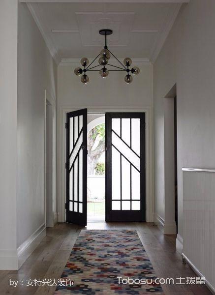 玄关白色门厅简约风格装潢效果图