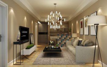 二居室婚房温馨简约风格设计效果图