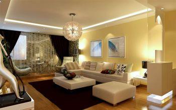 玫瑰庭院145平米三居室现代简约装修效果图