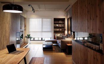 现代简约木质结构家装案例图片