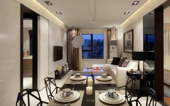 现代简约时尚二居室效果图片