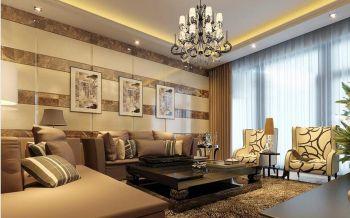 现代简约混搭式二居室装修效果图
