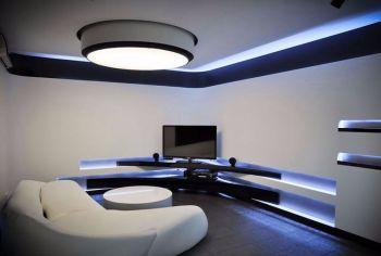 经典黑白简约式两居室装修效果图