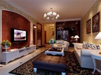 彩色简欧风两居室案例设计图