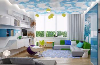 50平米时尚简约小户型家居一房一厅装修效果图