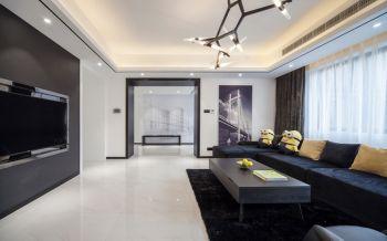 现代简约黑白色风格三居室装修图片