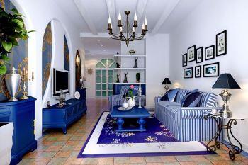 雅仕兰庭120平地中海混搭式三居室装修效果图