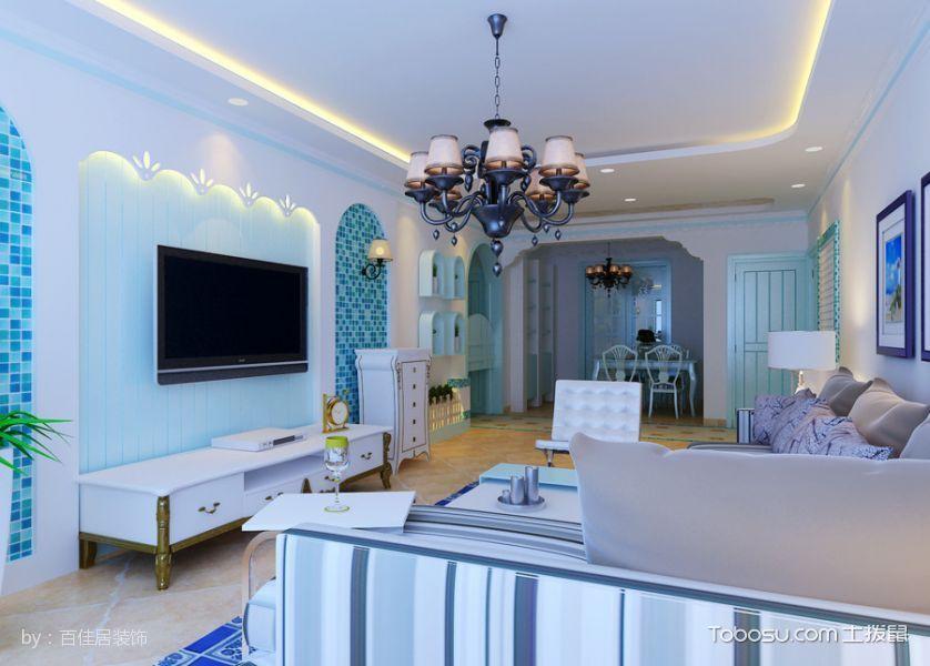 清凉地中海风三居室装修图片
