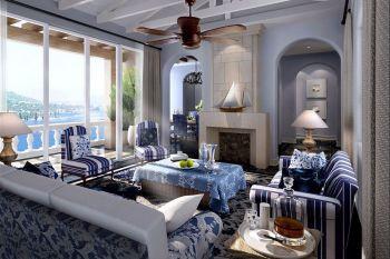 欧式地中海舒适三居室装修效果图