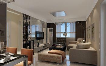 金泰丽湾二居室简约装修案例设计效果图