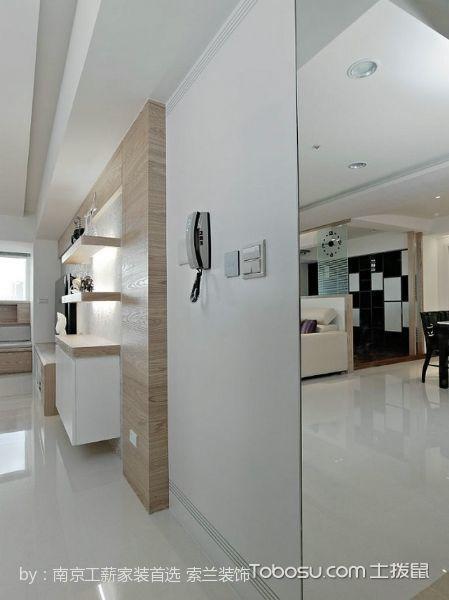 客厅白色地砖现代风格装饰效果图