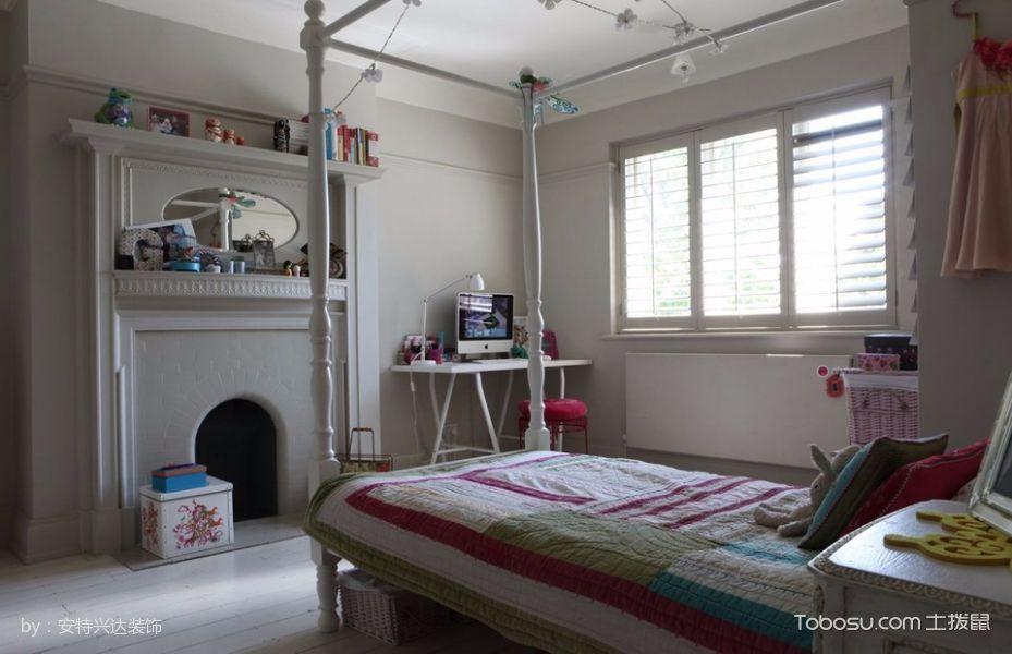 儿童房白色床北欧风格装饰设计图片