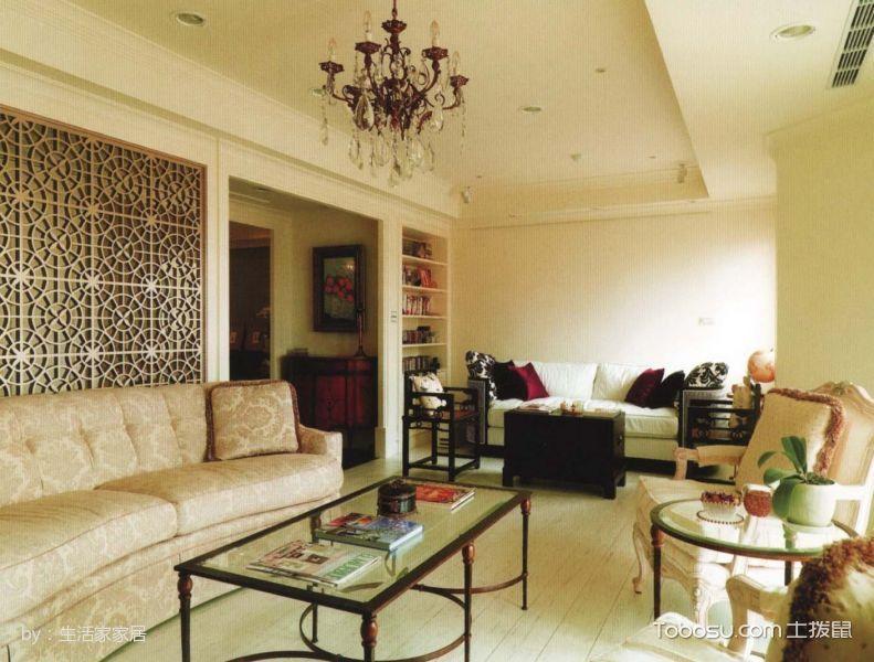 客厅咖啡色沙发简单风格装饰图片