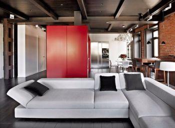 简约后现代式三居室装修效果图
