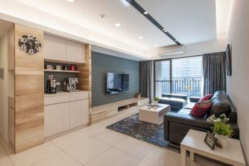 70平和美城简约小户型一房一厅家装装修效果图