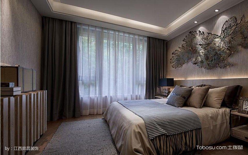 卧室灰色窗帘韩式风格装修图片