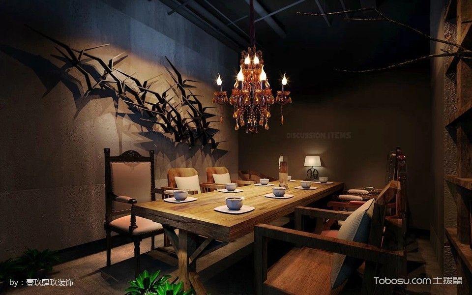 梧桐小镇融合餐厅餐桌区装修图片