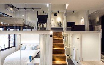 70平简约风小户型自主设计复式2房1厅装修效果图图片