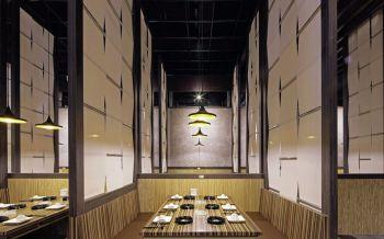 日式料理餐厅室内装修图片