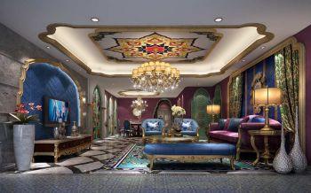 富湾国际混搭风摩洛哥式别墅装修效果图