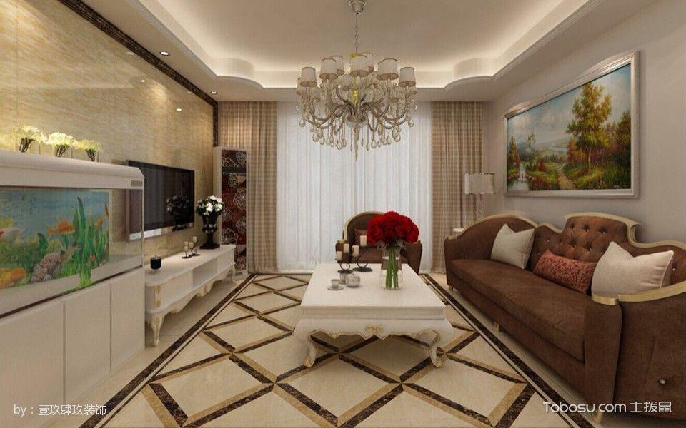 客厅吊顶简欧风格装潢设计图片图片