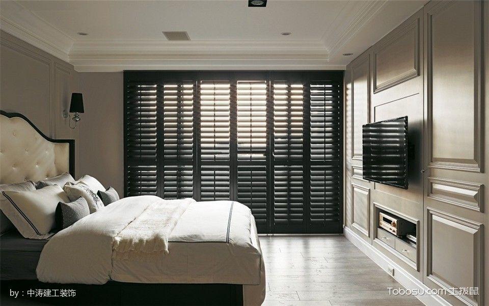 卧室 落地窗_70平美式风格小户型1房1厅装修效果图