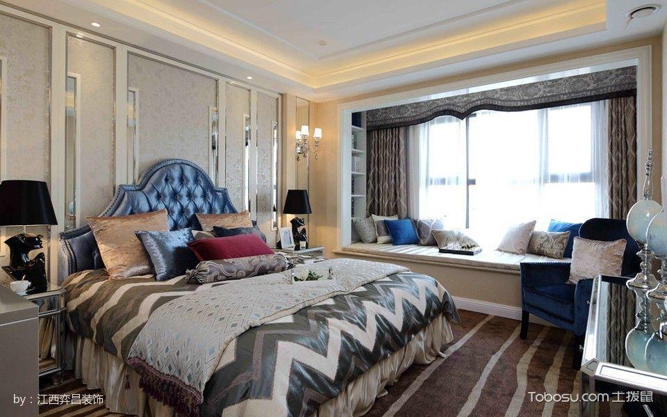 卧室飘窗法式风格装潢图片