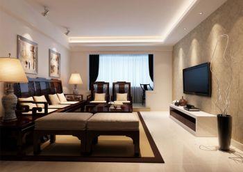 金宏豪庭二居室现代中式风格效果图
