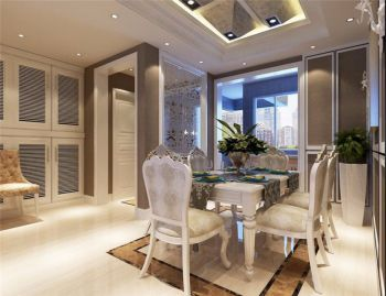 2021现代欧式90平米效果图 2021现代欧式三居室装修设计图片