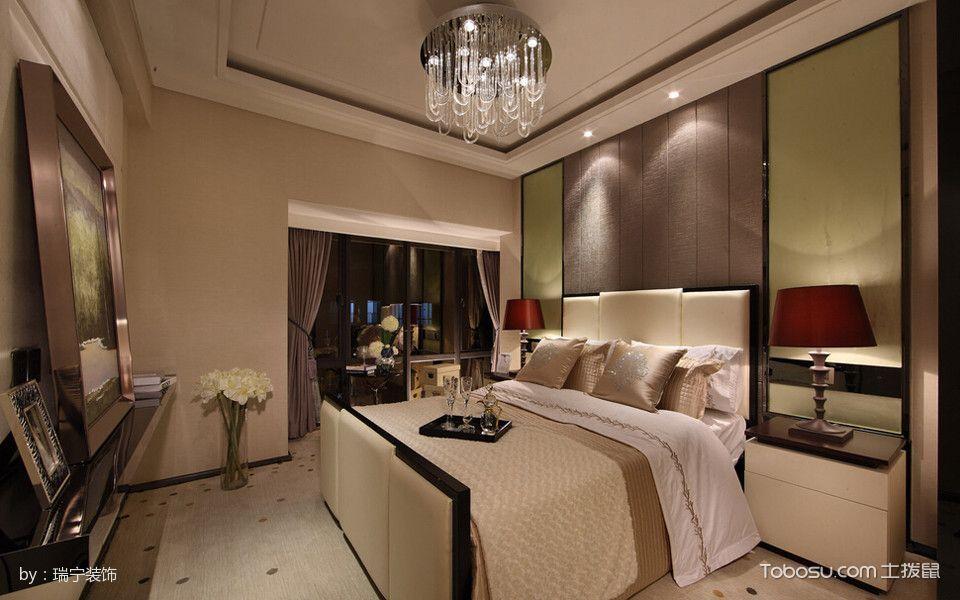 卧室白色吊顶古典风格装饰图片