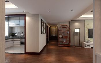 太阳岛花园 中式风格四居室装修实景图