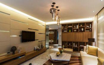 自建现代简约三居室装修效果图