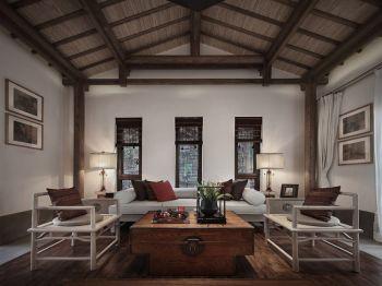 自建房现代中式风格四居室装修案例图