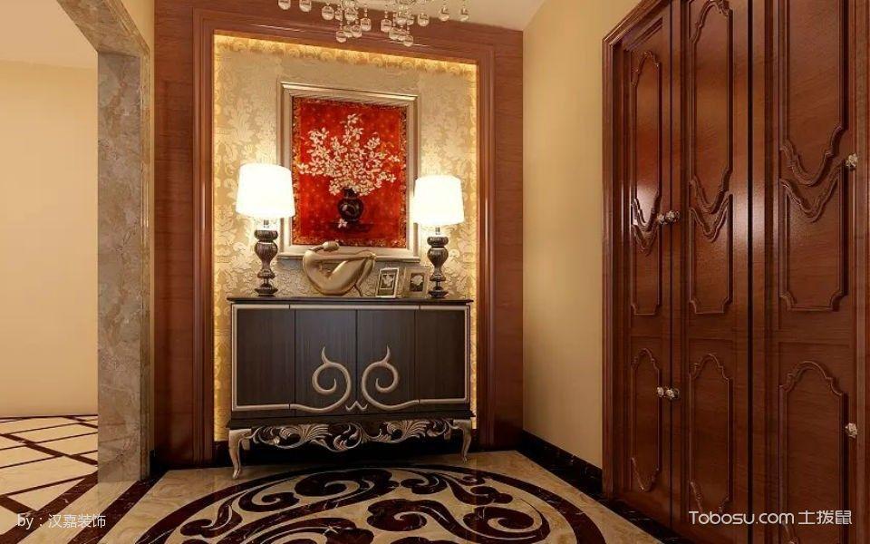 玄关黄色地砖欧式风格装饰图片