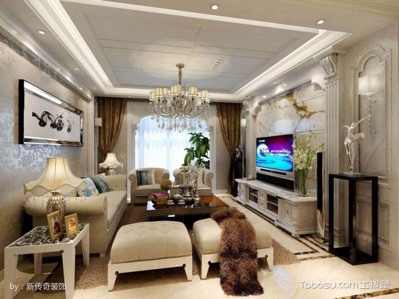 红谷新城两房欧式风格装修效果图图片