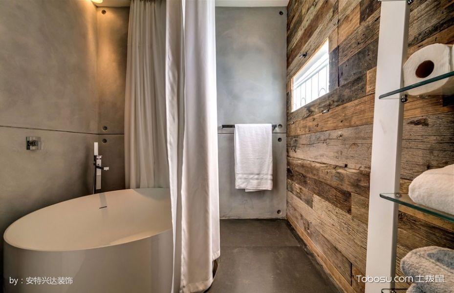 卫生间白色浴缸混搭风格装潢设计图片