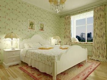 韩式田园风格两室装修效果图