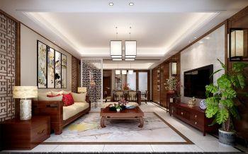 紫辰阁四室两厅一厨两卫中式风格装修效果图