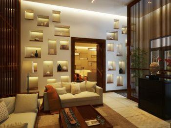 现代新中式风格别墅装修效果图