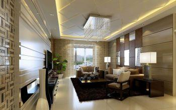 保利香槟三房现代简中风格装修效果图