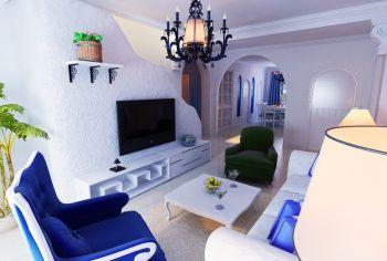 120平米白色米兰复式公寓地中海风格装修案例图