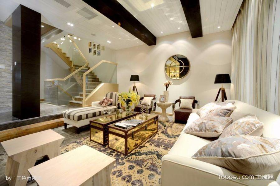客厅黄色地中海风格装修图片
