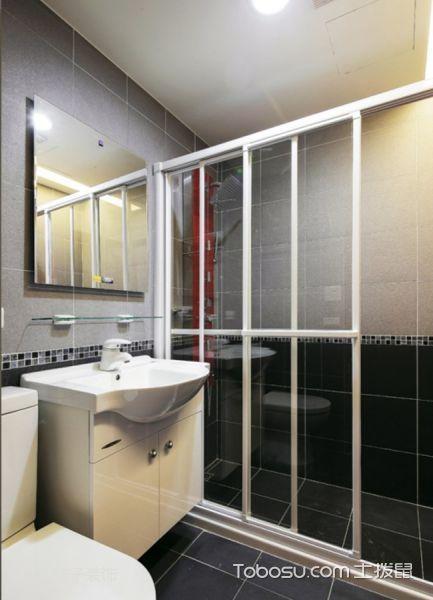 卫生间白色隔断简约风格装修图片