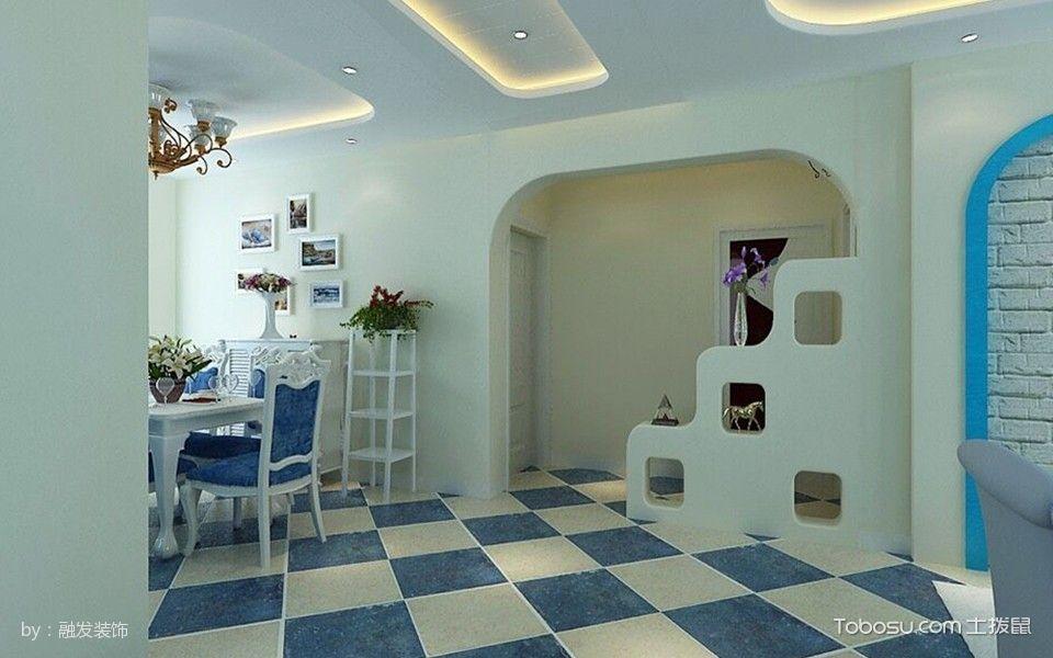 客厅米色隔断地中海风格效果图