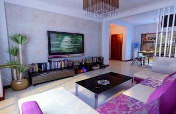 盛世嘉园现代简约风格二居室装修效果图