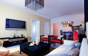 2018现代中式150平米效果图 2018现代中式三居室装修设计图片
