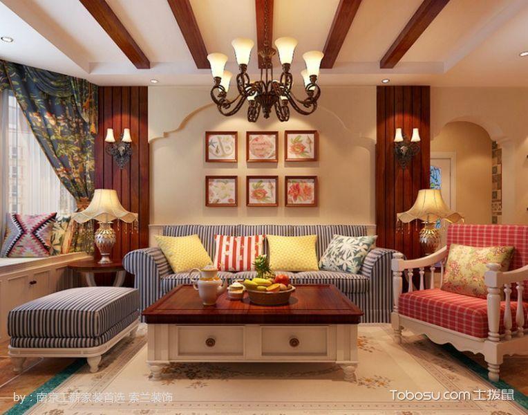 美式田园温馨两居室装修效果图