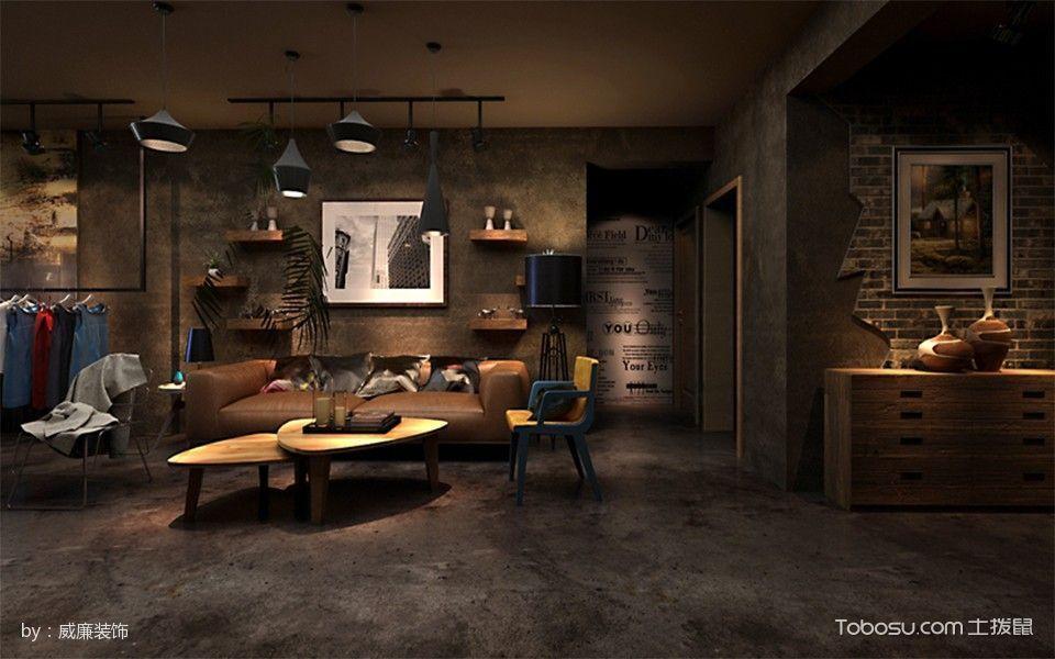 客厅 吊顶_【10万】印象山loft后现代风格室内装修效果图