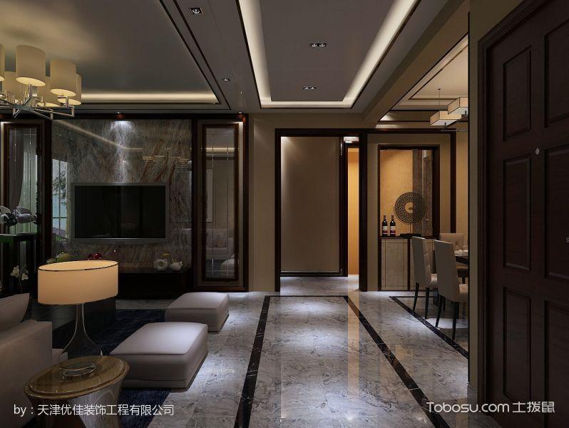 现代系列三居室装修效果图